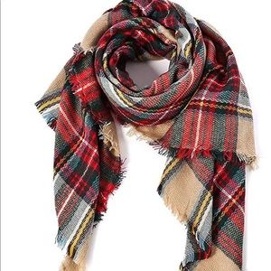 Winter-Red, Plaid scarf